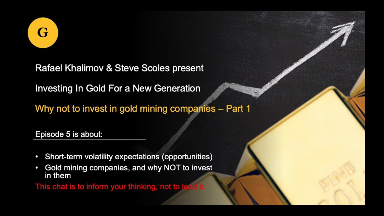 19.11.2020 - Why not to invest in gold mining companies - Part 1